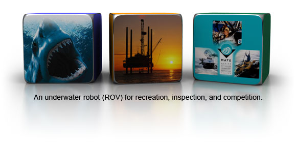 An underwater robot (ROV) for recreation, inspection, and competition.